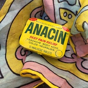 Anacin Storage & Organization - Vintage Anacin Tin